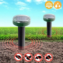 Solar ultrasonic Mouse Repeller, Snake Repeller, Outdoor Animal Repellent For Outdoor Garden Yard and Garden - no Need for Poiso
